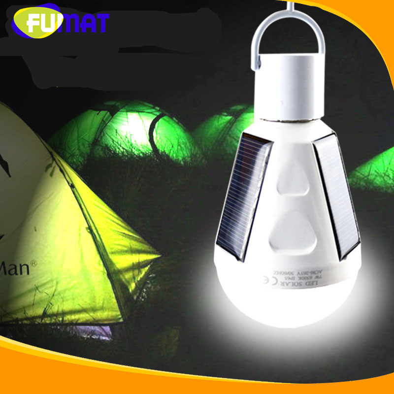 Portable E27 7W 12W LED Light Bulb Solar Charging Emergency Light Globe Bulb Camping Fishing Light 85V-265V LED Solar Lamp led emergency light bulb emergency bulb automatic charging 5 7 9 12w rechargeable battery e27 lamp clh