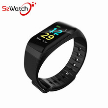 Color Screen Waterproof F1 Plus Smart bracelet Wristband Fitness Tracker BT 4.0Call Reminder Step Pulse Heart Rate Monitor