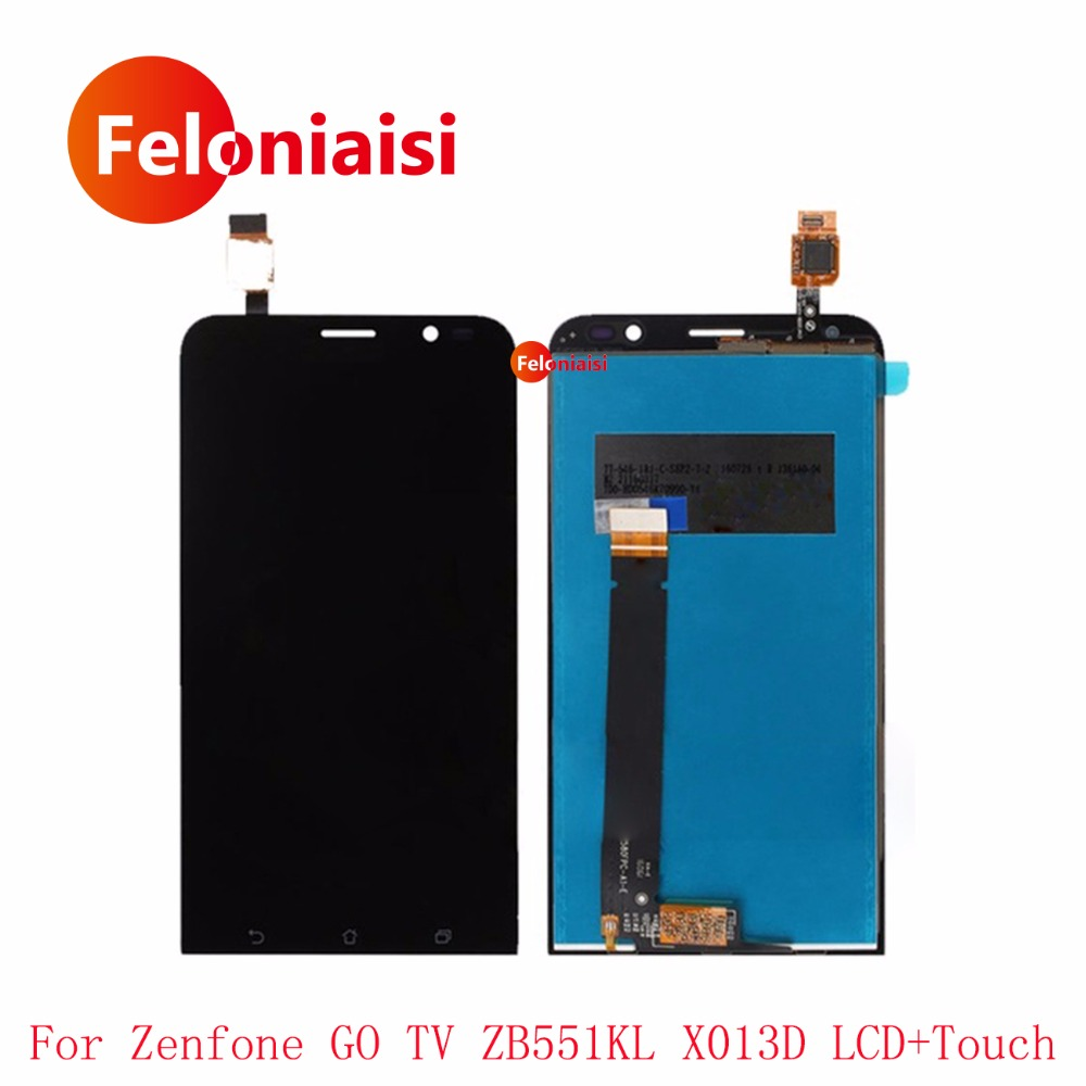 10Pcs/lot 5.5 For ASUS Zenfone GO TV ZB551KL X013D Full Lcd Display With Touch Screen Digitizer Panel Assembly Complete