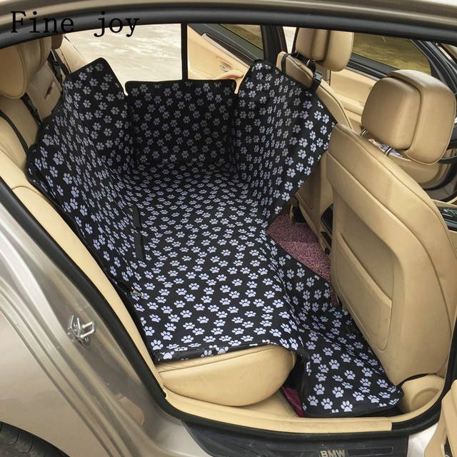 Fine Joy Dog Seat Protector Car Cover Travel Carriers Hammock Oxford Fabric Paw Pattern