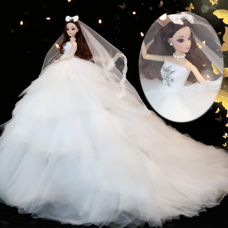 חם למכור 45CM שמלת כלה בובה Top Grade צעצועים אוסף קבל בובות נשוי יום הולדת מתנה עבור בנות מתנה לילדים 34