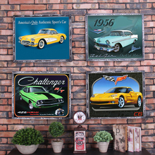 Retro Car Vintage Metal Plate Tin Signs Wall Poster Decals Painting Bar Club Pub Home Decor 1001(658)