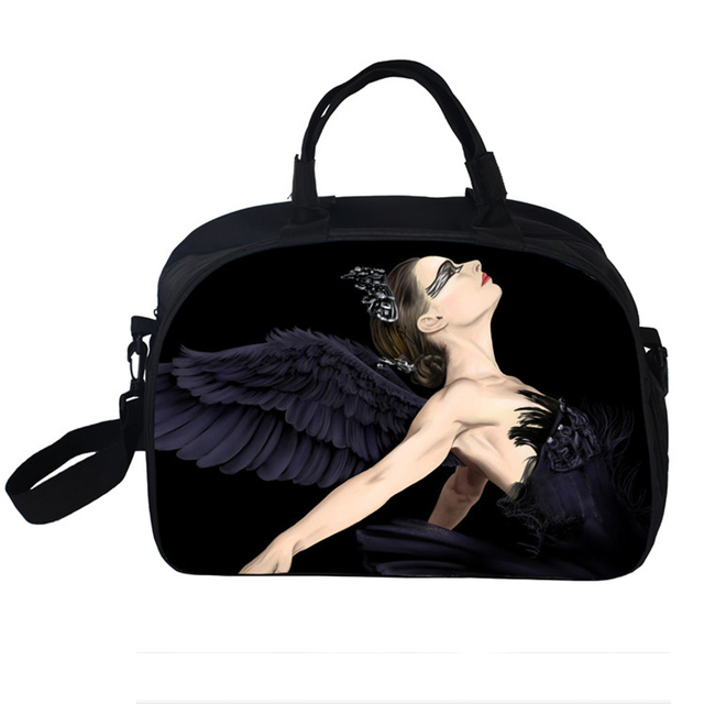 High Qulity Waterproof Women Travel Bags Elegant Swan Lake Ballet Shoulder Bag Vintage Large-Capacity Female Duffel Travel Tote
