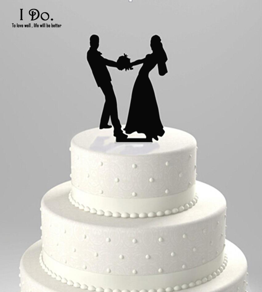 Free Shipping Acrylic Happy Wedding Cake Topper/wedding Cake Stand/wedding Decoration/cake Decorating Supplies