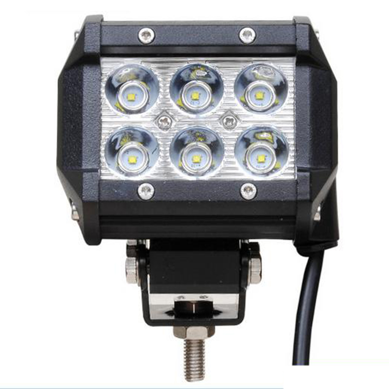LED Light Bar 6 leds 18W Led Work Light Combo DC12V 24V Trucks Wagon SUV Led Bar Headlight 4 inch 1pcs 120w 12 12v 24v led light bar spot flood combo beam led work light offroad led driving lamp for suv atv utv wagon 4wd 4x4