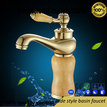 цена на wholesale brass  faucet for Bathroom cabinet basin tap hot and cold water mixer jade washbasin high quality basin valve