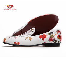 2017 New Ink Chinese style fashion mens loafers leather Slippers Moccasins Men Loafers Red Bottom Dress Polo Shoes Wedding Shoes(China)