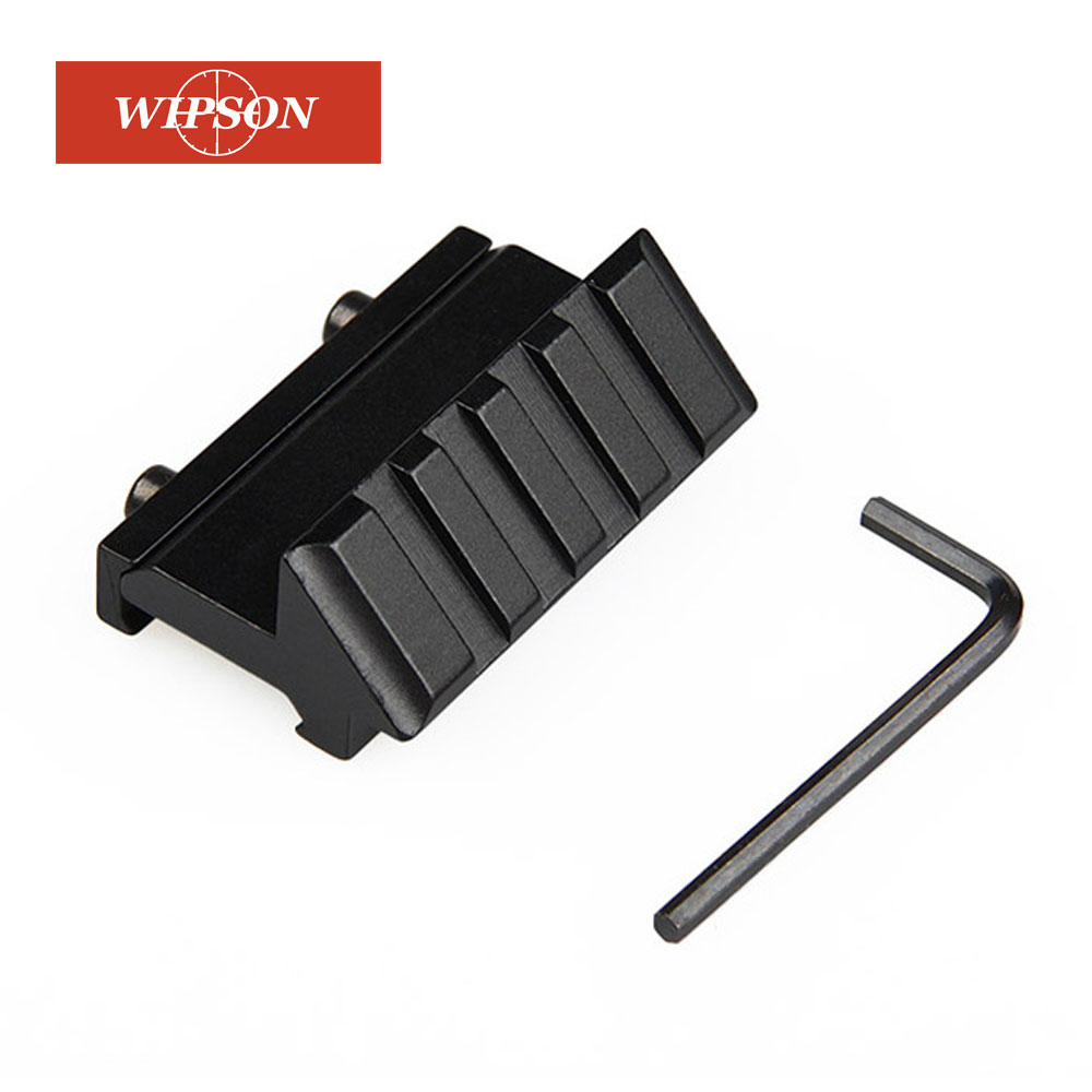 WIPSON Tactical 4 Slot One Side 45 Degree Angle Offset 20mm Rail Mount For Weaver Picatinny Rail Caza Hunting Accessories