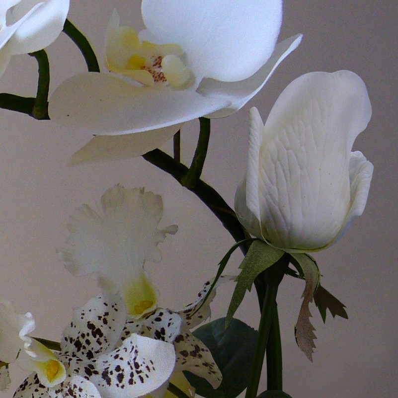 High simulation handmade ikebana artificial orchid flowers arrangements  real touch latex orchid floriculture pot culture suits-in Artificial    Dried Flowers ... b5ce40085e