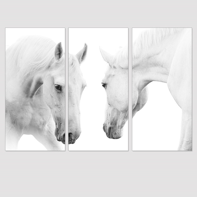 Customizable frame modern animals horse painting canvas print Home ...