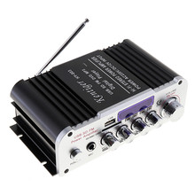 2CH Universal HI-FI Bluetooth Car Audio Power Amplifier FM Radio Player Support SD/USB/DVD/MP3 Input for Car Motorcycle Home