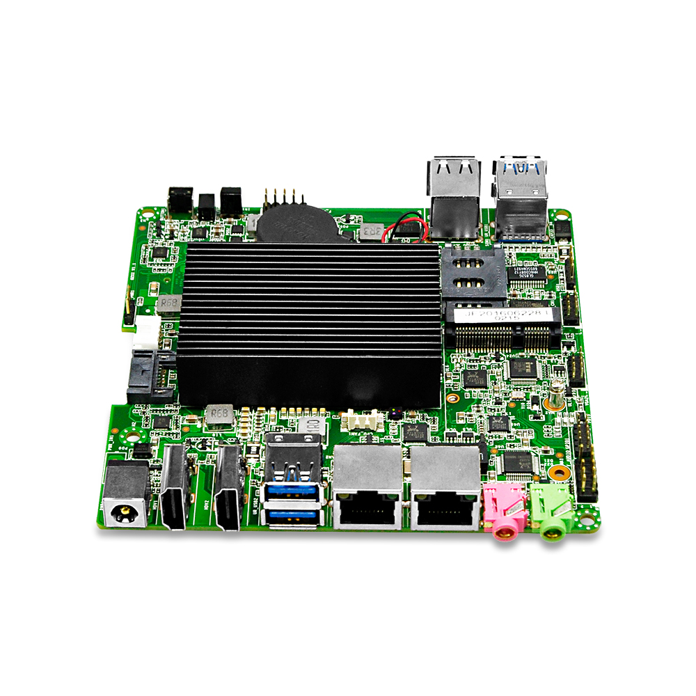 QOTOM Mini ITX Motherboard with Celeron N3150 Processor, quad core, up to 2.08 GHz, 2 LAN, 2 display port, Fanless Motherboard cheap mini itx motherboard qm77 with onboard intel core celeron 1037u processors support wifi 3g 2 lan