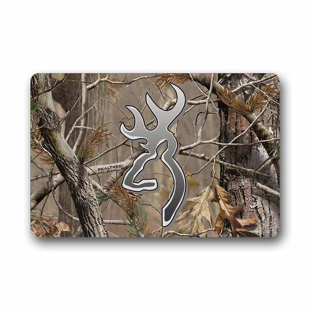 Camo Bathroom Rugs: Custom Camouflage Realtree Doormat Indoor/Outdoor Floor