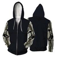 BIANYILONG Black Hoody Zipper Man Women Sweatshirt Pullover One Punch Man Casual Sportswear Cool Zip Hoodie