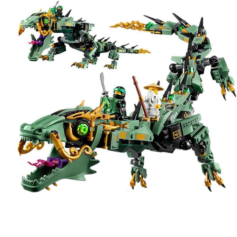592pcs Movie Series Flying mecha dragon Building Blocks Bricks Toys legoings Children 70612 Gifts Compatible LEPIN Ninjagoings