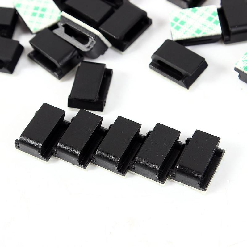 10 pcs Black Plastic Wire Fixed Clip Car Wire Cord Cable ...