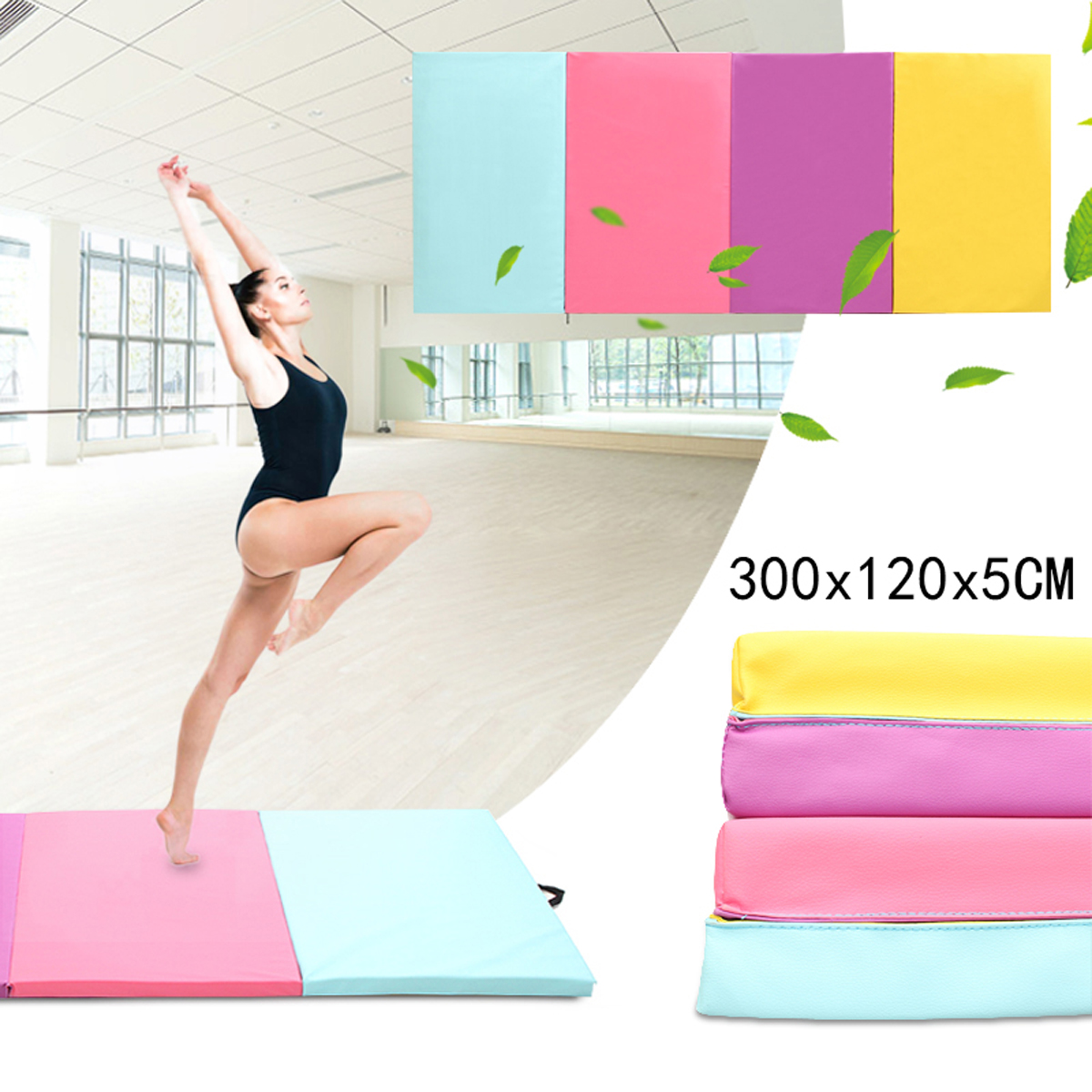 Foldable Gymnastics Mats Indoor Sports Folding Fitness Gym Exercise Yoga Mat Pad Outdoor Training Body Building Mattress iunio yoga mats 15mm fitness mat for body building exercise pilates home gym training folding eva pad outdoor camping yoga mat