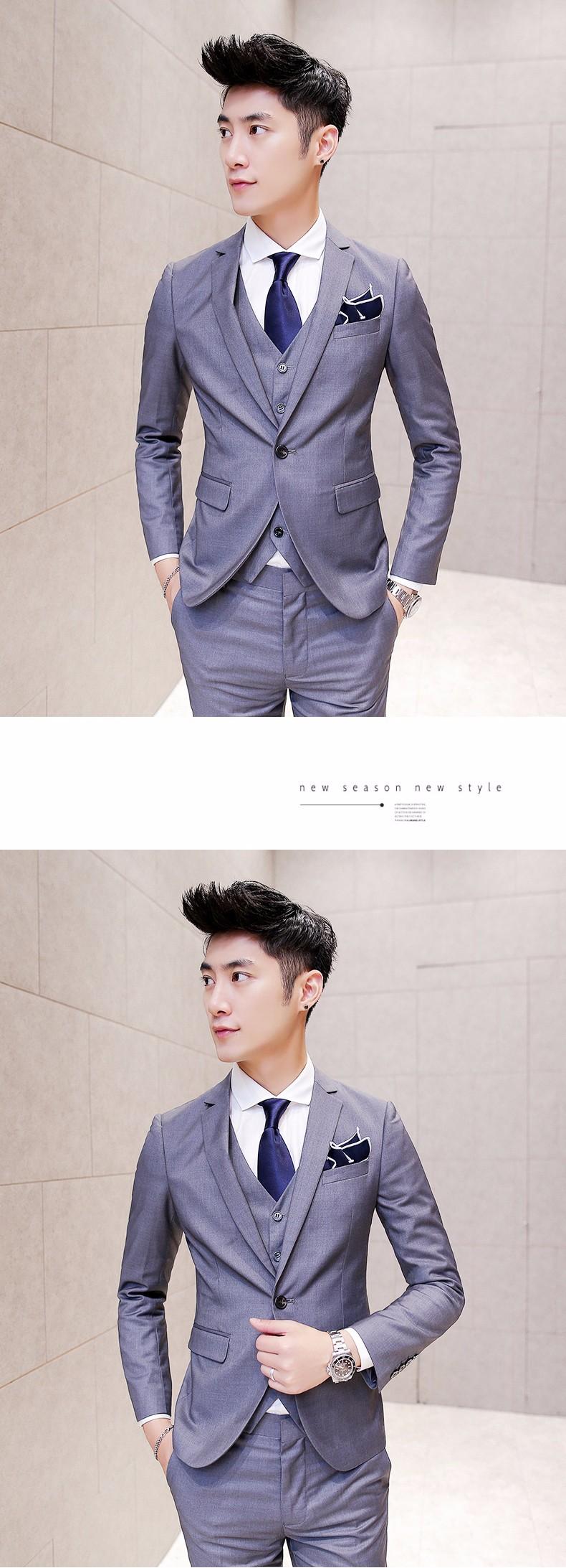 grey men suit styles