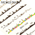 Nail Art Water Decals Night Scene Pattern Wrap Tips Decorations Sheet on Fingers Water Transfer Nail Art Tattoo 8240909