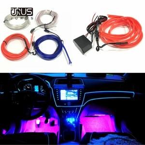 Image 3 - Accesorios de iluminación Interior del coche de la luz ambiental del estilo del coche de JURUS 10 piezas para la tira de la lámpara del coche 12 V de la cuerda del inversor línea de tubo de lámpara