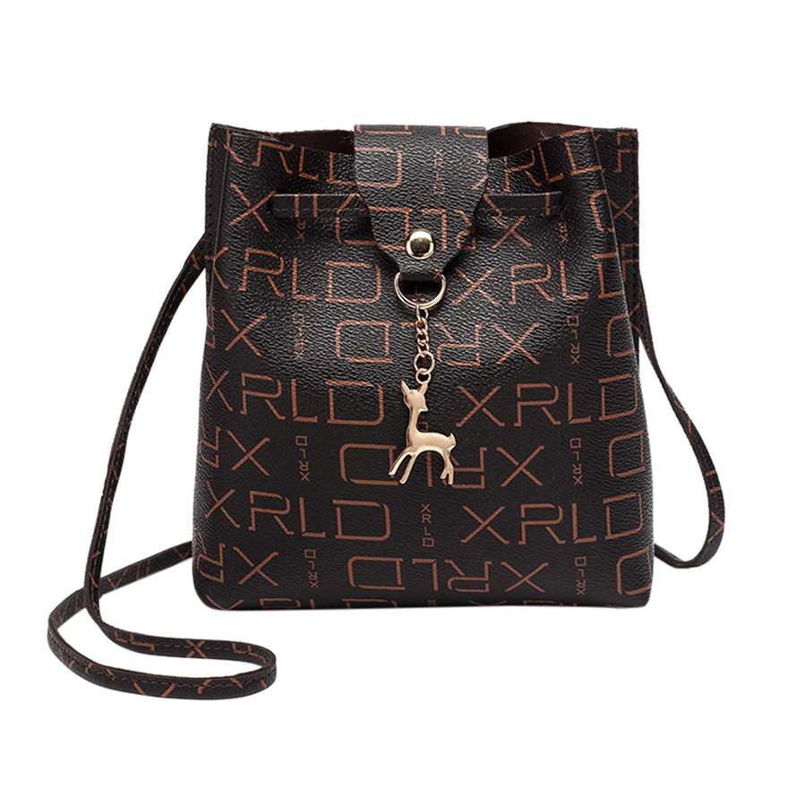 New Style Women Fashion Small Deer Hasp Crossbody Bag Leather Soft Handle Shoulder Bag Cover Coin Phone Purse And Handbags S