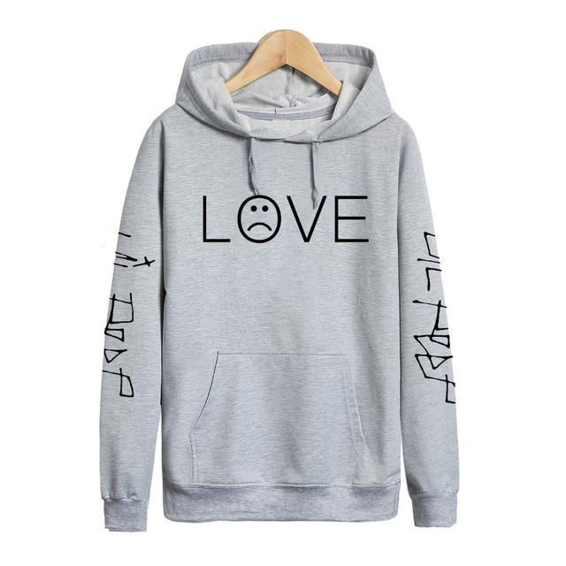 Pkorli Lil Peep Love Hoodies Men Women Sweatshirts Hooded Pullover Casual Women Homme Harajuku Fashion Sweatshirts Rapper Hoody