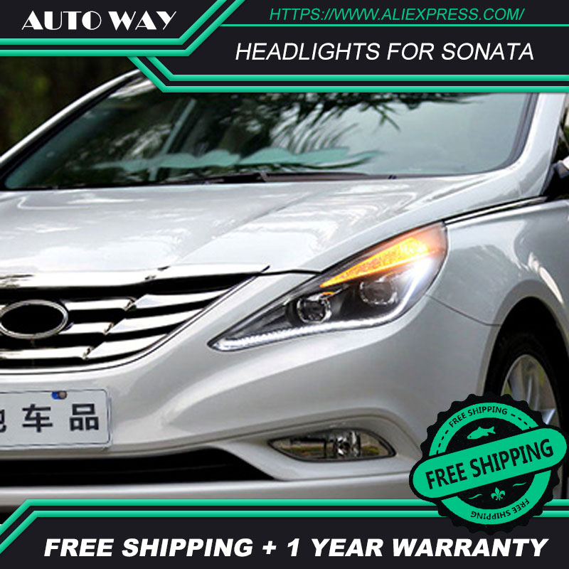 Car styling LED HID Rio LED Sonata headlight Head Lamp case for Hyundai Sonata headlights 2010