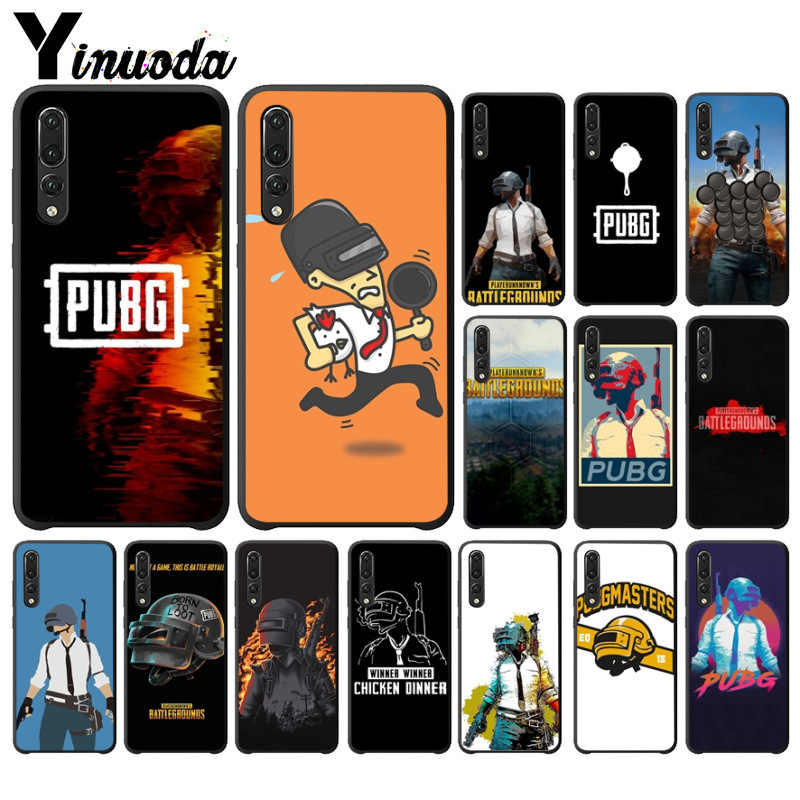 Yinuoda pubg batterground game Soft Silicone TPU Phone Cover for Huawei P10 plus 20 pro P20 lite mate9 10 lite honor 10 view10