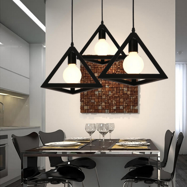 Wrought Iron Pendant Lights For Home Black Bar Lamp Decor Wedding Decoration Rustic