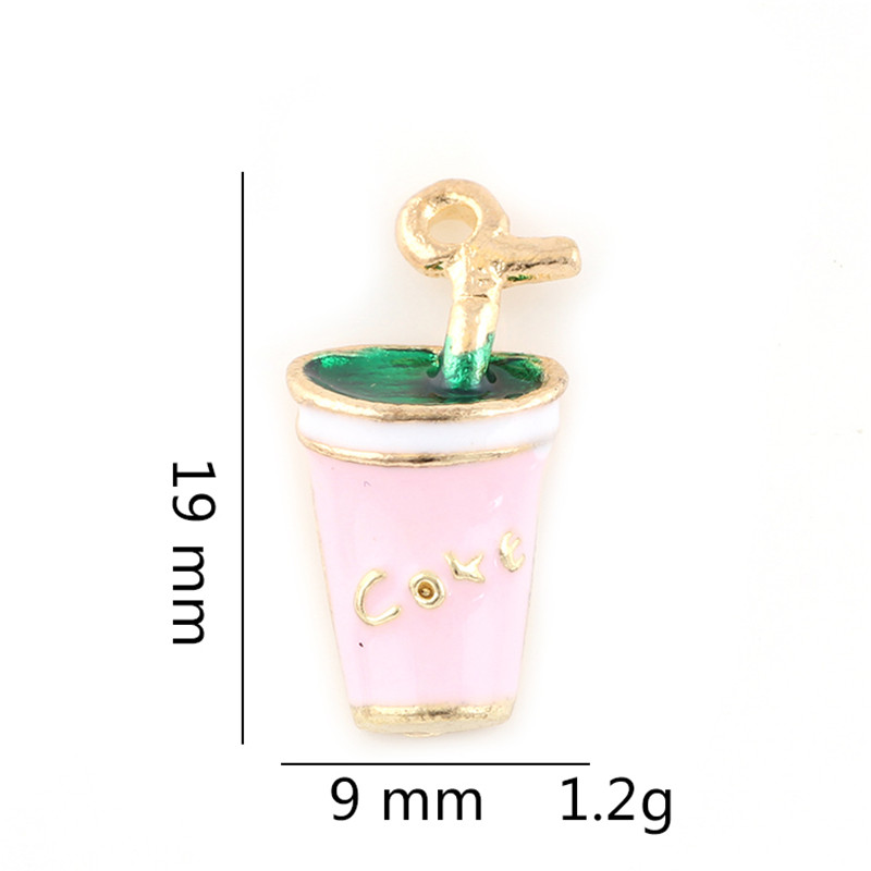 20PCS Brand Drink Cup Gold Color Women Bracelets Charm Pendants Fashion Christmas Gifts