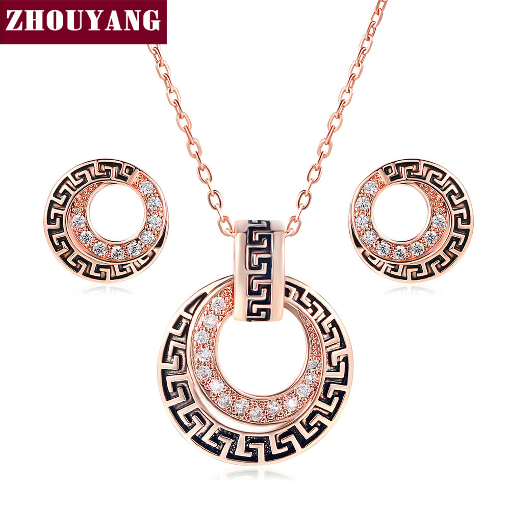 Top Quality ZYS048 Rose Gold Color Elegant Weddings