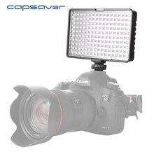 Capsaver TL-160S Iluminação Fotográfica LED Luz de Vídeo Regulável 3200 K-5600 K 160 pcs LEDs Câmera de Mão-held Estúdio LEVOU Luz Lâmpada