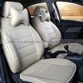 Nuevo estilo de Lujo De Cuero Dedicado Fundas de Asiento de Coche cubiertas Frontal y Posterior del coche para CITROEN Elysee C4 C4l PicassoC3 C5 DS4