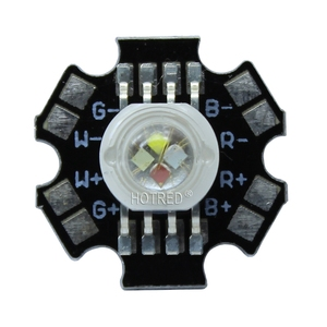 Image 2 - 50 יח\חבילה 4*3 W 12 W RGBW RGB + לבן גבוהה כוח Led דיודה שבב מנורת אור אדום ירוק כחול לבן עם 20mm כוכבים בסיס