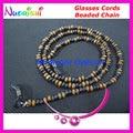 1pcs or 5 pcs or 10pcs L834 Nostalgic Wood Beaded Spectacle Glasses Chain Cords Lanyard Environmental Protection free shippin