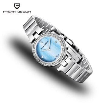Women Watches 2019 PAGANI DESIGN New Top Brand Luxury Silver Quartz Ladies Watch Dress Blue Dial Sport Watch Relogio Feminino