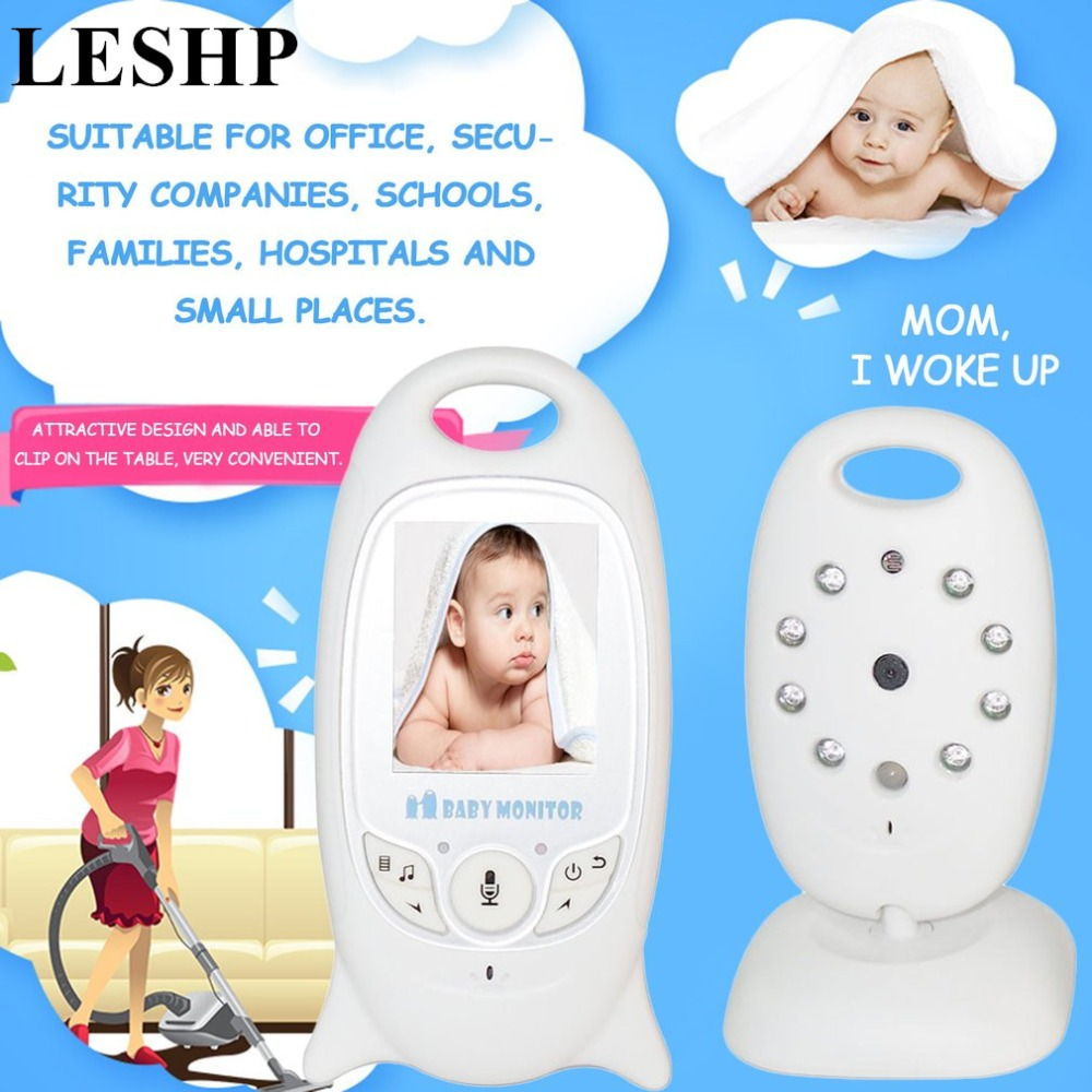 LESHP 2.0 Color LCD Video Baby Monitor Wireless 2 Way Talk Night Vision IR Baby Camera Temperature Security Camera with Alarm