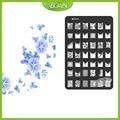 Envío Gratis Noble Flor de Acero 10 Unids/set BQANStainless Nail Plate Estampación Kit MLS01