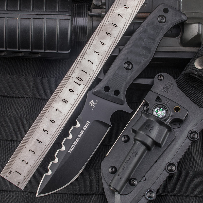 HX OUTDOORS 58HRC hardness Straight Knife Camping Survival knife fixed blade D2 steel knife pocket EDC tools for self-defense hx outdoors survival knife d2 blade multi function camping saber tactical fixed knife hunting tools brand fixed knife hand tools