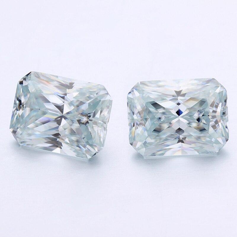 Décorations de bijoux de forme rayonnante top clarté perles de moissanites bleu clair
