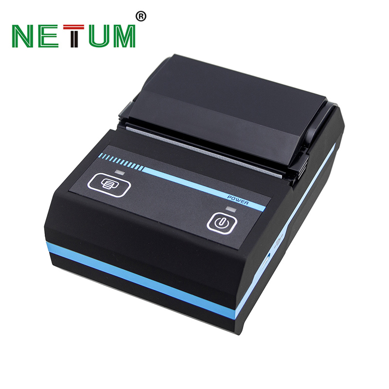 NT 1880 Portable 58mm Bluetooth Thermal Receipt Printer Mobie APP 2D QR Code Receipt Printer Support