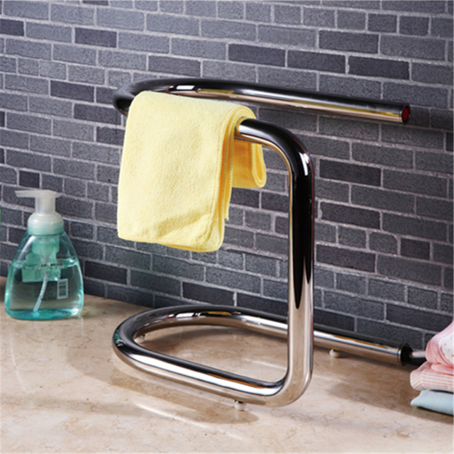 Free Standing Towel Warmer Electric Heated Towel Rail Stainless Steel  Bathroom Accessories Heated Towel Racks HK