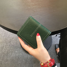 100% Genuine Leather Wallet Fashion Cow Leather Short Women Purse Brand Solid Lady Money Clutch Small Wallet for Female with Box