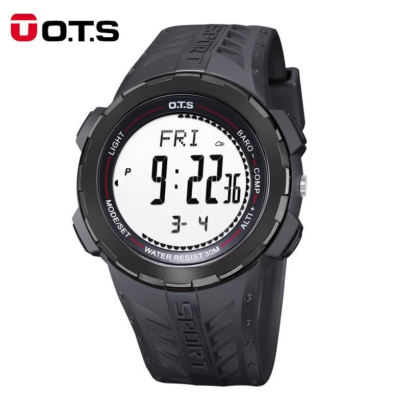 OTS Mens Watches Top brand luxury Digital Watch Men Sports Watches Outdoor Compass Waterproof Alarm Clock Wristwatch