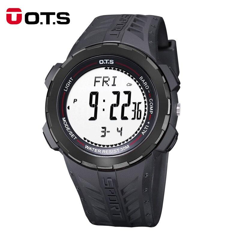 OTS hommes montres Top marque de luxe montre numérique hommes montres de sport en plein air boussole étanche réveil montre-bracelet