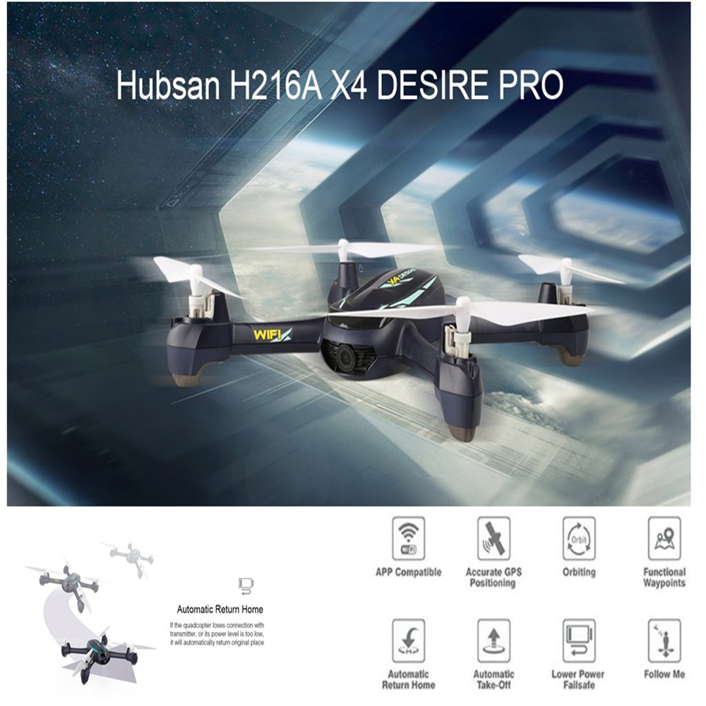 Hubsan H216A X4 DESIRE PRO RC Drone Helicopter 1080P WiFi Camera Altitude Hold Waypoints Headless Mode Remote Control Quadcopter original hubsan h216a x4 desire pro gps wifi fpv with 1080p hd camera altitude hold mode headless mode rc drone quadcopter rtf