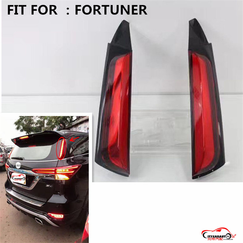 citycarauto rear tail lamp REAR braket lights warning lights LED rear Light fit for TOYOTA fortuner LED Rear Lamp +Brake+Park dongzhen fit for nissan bluebird sylphy almera led red rear bumper reflectors light night running brake warning lights lamp