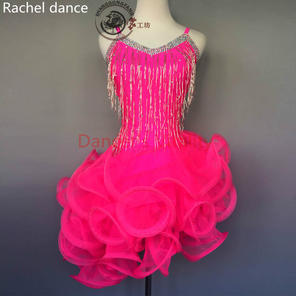 Women Latin Dance Dress Fringe Women Ballroom Dancing Dresses Latin Dance Costume Dance Latin Dresses Tango Dress Samba Skirts