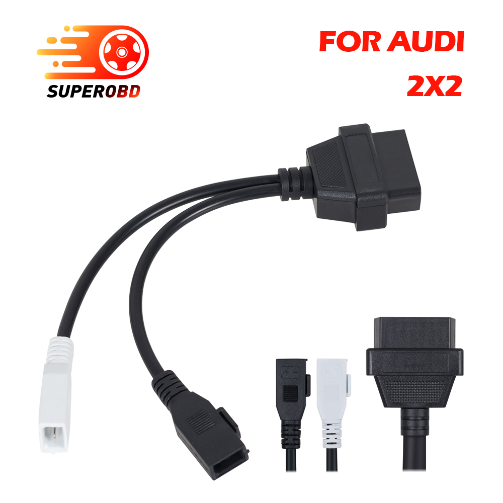 Kingbolen 2x2 Obd1 Obd2 Scanner Car Diagnostic Cable 2p Fits For Audi Obd Wiring 2x2pin To 16pin Female Connector Vw Skoda In Cables