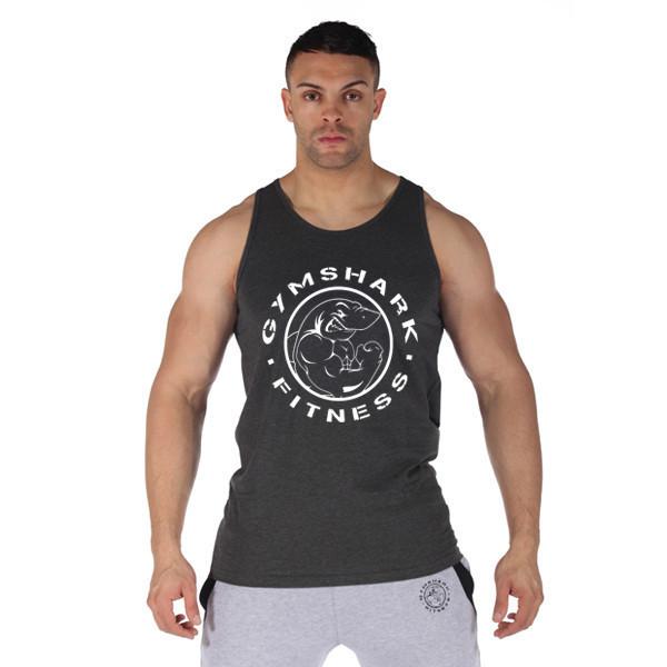 M-XXL 2015 algodão regata gymshark longarina colete Sem Mangas dos homens tops para meninos musculação roupas de treino